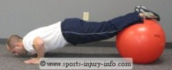 Fitness Ball Push Up