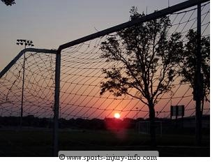 soccer sunset