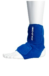 Ankle ice compression wrap