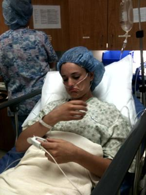 Right before surgery, I was a little loopy,